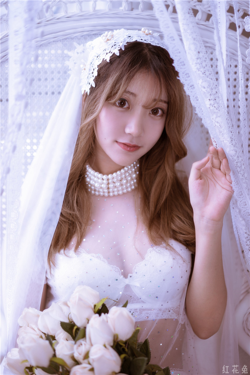 黑川 – 年上彼女 白色婚纱 [27P]