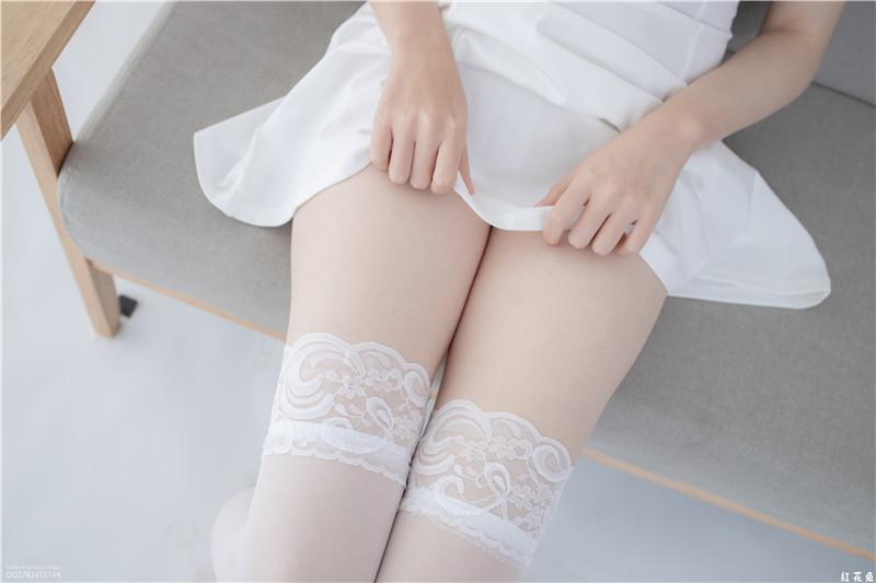 JKFUN-百圆定制1-5 Aika 30D蕾丝边高筒袜 [34P1V]